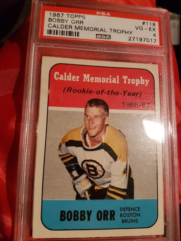 Used Bobby Orr Rookie Calder Card For Sale In Ontario Letgo