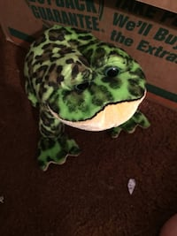 green and black animal plush toy South Bend, 46616