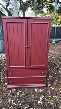 Red wooden 2-door cabinet, 2 drawer cabinet Atherton, 94027