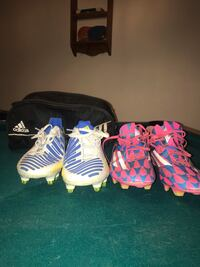 Two pairs of adidas lethal zone size 8 men's cleats  Golden, 80403