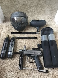 black paintball gun with protective mask and accessories  Crownsville, 21032