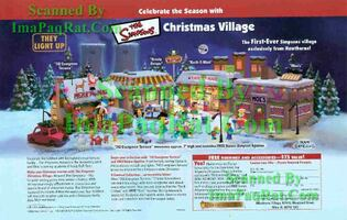 simpsons christmas village