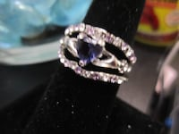 Purple Amethyst Ring Set - NEW Jewelry 925 Silver / Gold  Rockford