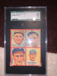 1941 Goudey 4in1 babe Ruth