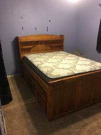 Full size bed frame with storage Hemet, 92544