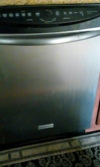 gray and black dishwasher