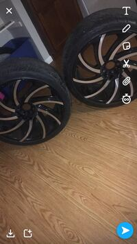 Black and grey  22's RIMS & TIRES