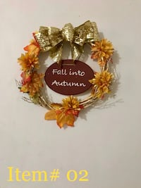 brown and yellow floral wreath Houston, 77022