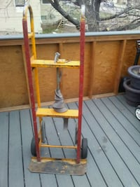 yellow and red metal hand truck Lakewood, 80226