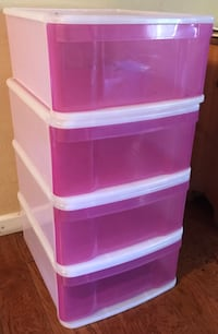Case of 4 Large Tint Stacking Drawers Fuchsia from The Container Store Vallejo, 94590