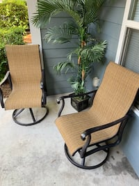 Swivel Patio Chairs - Porch Chair Set - BEAUTIFUL Perfect Condition North Charleston, 29420
