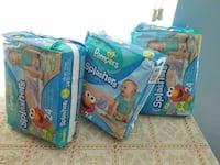 Three Pampers Swaddlers diaper packs 35 km
