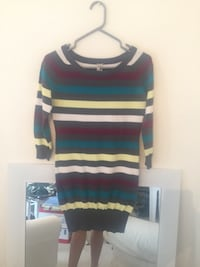 Blue, black, and white striped sweater Whitby, L1N 1W4