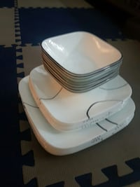 white square ceramic plate and bowl set Richmond, V6X 1C9