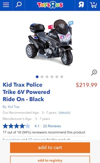 Kids police bike with charger Vaughan, L6A 3A5