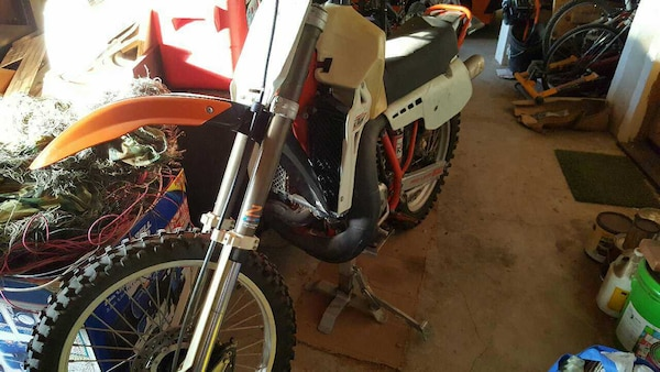 1986 KTM mxc 500 with spare parts bike