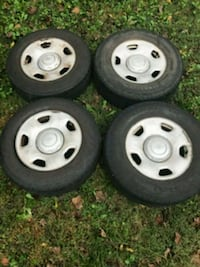 Four tires w rims 255/70r17 for Ford F150 Takoma Park