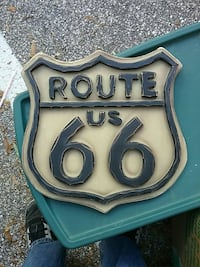 Route 66 Wood hanging wall sign Pasadena, 21122