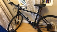 black and gray hardtail bike