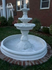 white three tier  shell concrete  fountain Rockville, 20850
