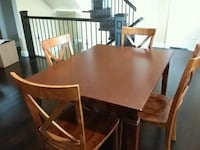 Wooden table and 4 chairs New Westminster, V3M 2M2