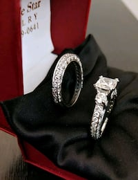 White gold bridal set Los Angeles