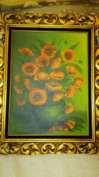 brown wooden framed painting of flowers Reno, 89506