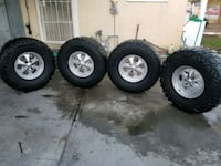 four gray 5-spoke car wheels with tires Compton, 90220