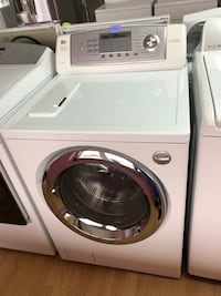 LG white front load washer 47 km