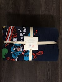 Marvel quilt from Pottery Barn. Brand new in packaging. Originally $260. For twin bed. 100% cotton. Calgary, T2H 1S6