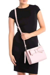 NEW Soft Pink BETSY JOHNSON Crossbody Handbag with Studded Bow Lake Forest, 92630