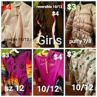 Various girls jackets San Antonio, 78201