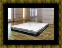 Singlesided pillowtop mattress with box spring 50 km