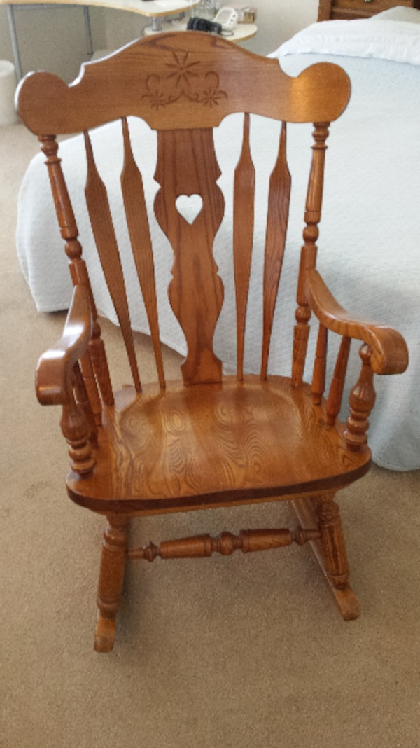 Groovy Vintage S Bent Bros Colonial Adult Rocking Chair Gardner Mass Solid Oak Rarely Used Machost Co Dining Chair Design Ideas Machostcouk