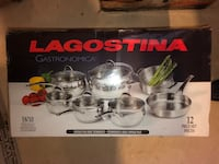 Brand new Lagostina 12pc pot set paid over $400 Milton, L9T 6A9