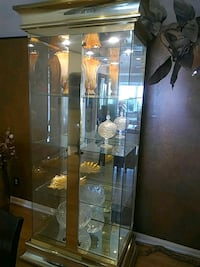 Stunning lighted display cabinet - glass, brass.  Eyecatcher. Collingswood, 08108