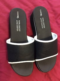 Pair of black-and-white sandals, sze 7 Toronto, M3J 1K6