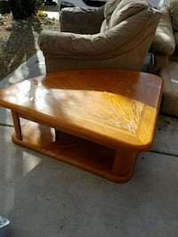 brown wooden coffee table w/rising table  Albuquerque, 87121