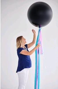 Gender reveal black balloon baby shower photoshoot  Rancho Cucamonga, 91730