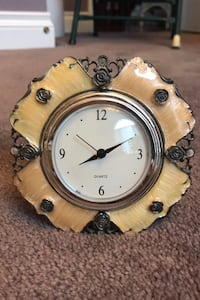 Lacquered Silver Plated Clock