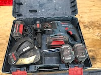 Bosh 36v Hammer Drill w/ 4 batteries and charger Meriden, 66512