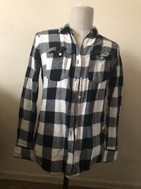 black and white plaid dress shirt