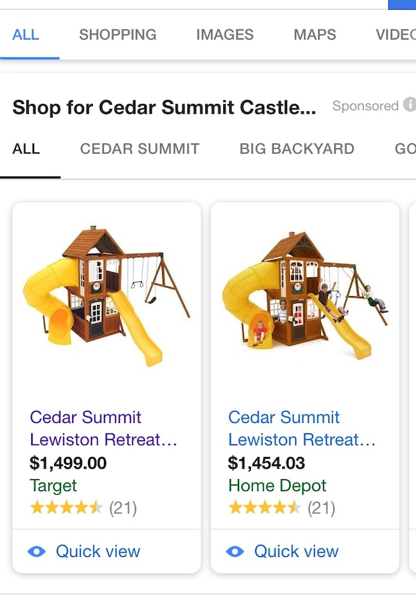 Cedar Summit Castlewood Wooden Play Set Willing To Take Reasonable Offers