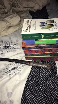 Harry Potter books and wand St. Thomas, ON, Canada