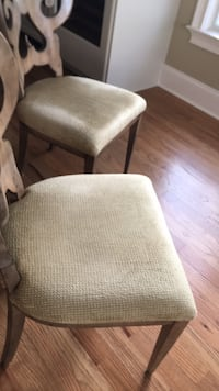 4 beautiful designer dining chairs.. excellent condition!