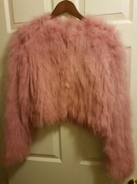 Ladies fur pink jacket 559 km