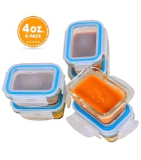 6-Pack of 4 oz. Glass Baby Food Storage Containers Leesburg, 20176