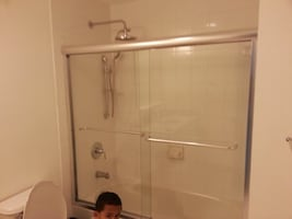 Glass Bypass shower doors (bath tub)