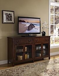 """New Classic Corsica 65"""" Entertainment Console, African Chestnut Broadview Heights, 44147"""