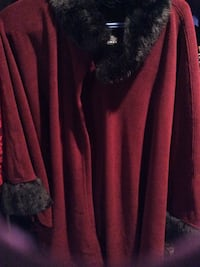 Red and black fur jacket one size. Worn 2x Edmonton, T6H 5G5